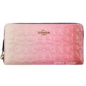 COACH Ombre Signature Leather Accordion Zip Wallet
